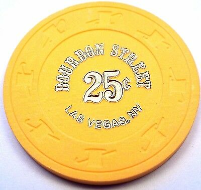 Vintage BOURBON STREET Casino 25c 25 Cent Chip Las Vegas, NV Nevada