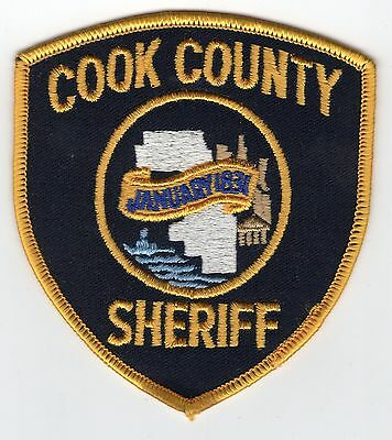 Original Vintage COOK COUNTY Sheriff IL Illinois Police Embroidered Patch