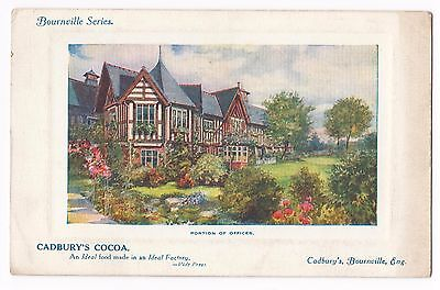 Old Postcard CADBURY'S COCOA - Bournville Series - 'Portion of Offices' c 1910