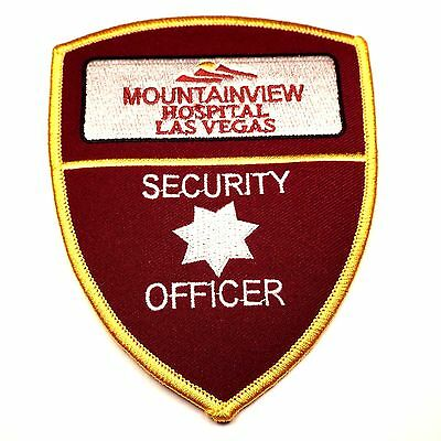 Mountainview Hospital Security Officer Embroidered Patch Las Vegas Nevada NV