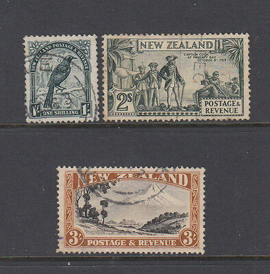 Three very nice New Zealand 1 to 3 Shillings issues