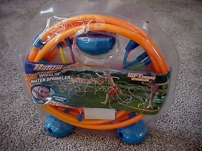 Banzai Wigglin' Water Sprinkler 12 Ft Wacky Water Wiggles Fun for Kids