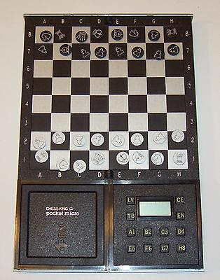 Chess King Pocket Micro Electronic Game Made In England Works RARE