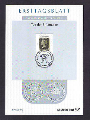 2015 Germany~~175th Penny Black ANNIVERSARY~~ FDI - CARD ~Special postmark