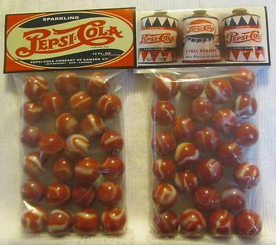 2 Bags of Pepsi Cola Canada Advertising Promo Marbles