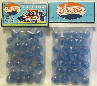 2 Bags of Pepsi Cola Cops Advertising Promo Marbles