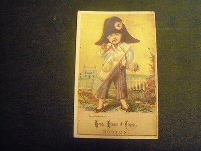 Victorian Trade Card Hogg Brown Taylor Boy smoking pipe