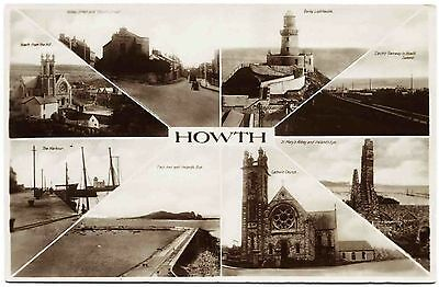 Early Real Photo Postcard . Views Of Howth . Ireland
