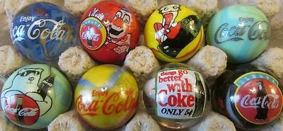 Super Nice Lot of 8 Coca Cola Advertising Glass Marbles Lot 3