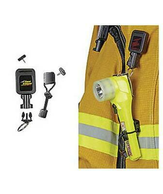 Scuba Diving Gear Keeper Fire Fighter Rescue Right-Angle Flashlight Retractor LG