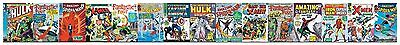 Marvel Comic Book Front Covers on Sure Strip Mural Wallpaper Border ZB3332BD