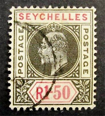 nystamps British Seychelles Stamp # 47 Used $88