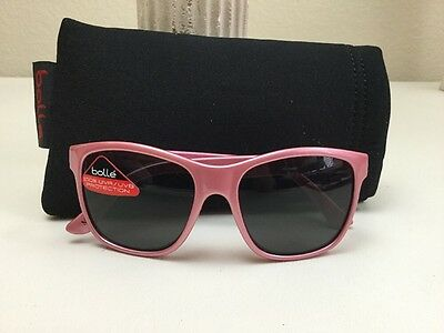 New Bolle Sunglasses Children's Girls Dylan Mauritius Pink Frame W/ Soft Case