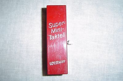 Vintage Wittner Taktell Super-Mini Metronome IN Ruby Red CASE MADE IN W Germany