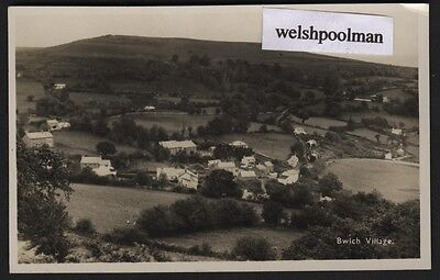 Vintage  Bwlch Village Breconshire Real Photo Postcard Powys Wales