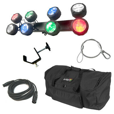 American DJ Octo Beam Rgbw Multi Color LED 8 Head Beam Light W/ Bag Clamp Cable