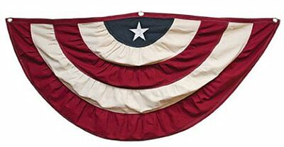 """America Flag Bunting 60""""Wx32""""Drop Patriotic July 4th Decor Country Swag"""