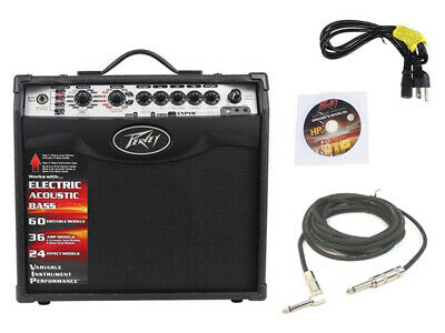 "New Peavey Vypyr Vip1 Combo Amp 8"" Modeling Guitar 20W Amplifier W/ 1/4"" Cable"