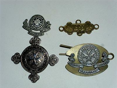 Job Lot Of Four Vintage St. John's Ambulance Association Cap Badges, Medals!