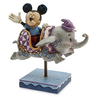 Mickey Mouse And Dumbo Flying Elephants Figure By Jim Shore