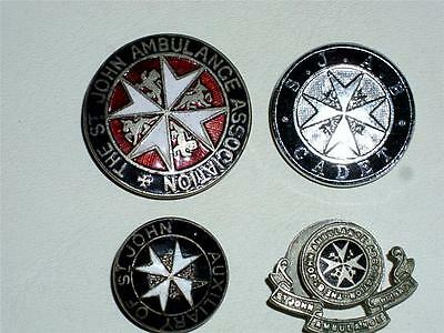 Job Lot Of Four Vintage St. John's Ambulance Association Enamel Badges!
