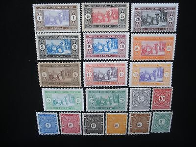 French Colonies Collection, 39 Different Stamps MLH