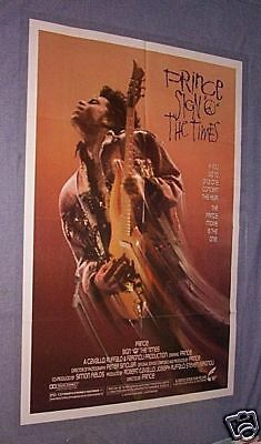 1987 PRINCE SIGN 'O' THE TIMES 27x41 Movie Poster
