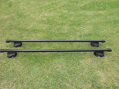 Thule 755 Now (757) Foot Pack Rapid Fit Roof Bar With Locks   And 135 Cm Bars