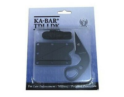 "Ka-Bar 1478 TDI Last Ditch LDK Fixed Knife 1.75"" Blk Blade Composite Sheath"