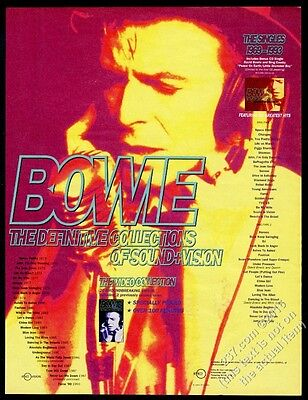1994 David Bowie photo The Definitive Collections vintage print ad