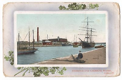Old Postcard 'Harbour and Chemical Works' Arklow