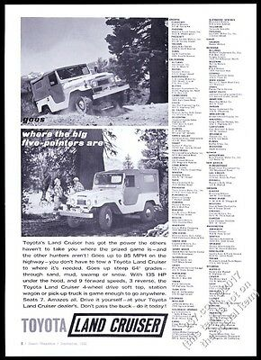 1962 Toyota Land Cruiser SUV 2 off-road photo vintage print ad