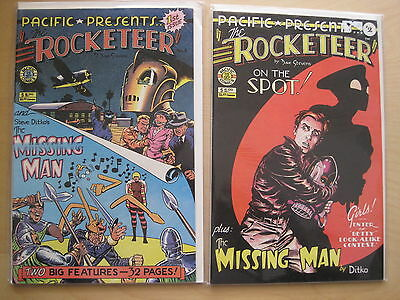 The ROCKETEER : SET of #s 1 & 2. CLASSIC DAVE STEVENS. PACIFIC COMICS.1982