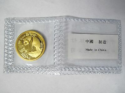 1993 Chinese Gold Panda 1/10 oz au .999 China 10 yuan coin Sealed