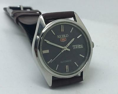 Seiko Automatic 6309-6240 Day-Date Grey Dial Excellent Vintage Wrist Watch