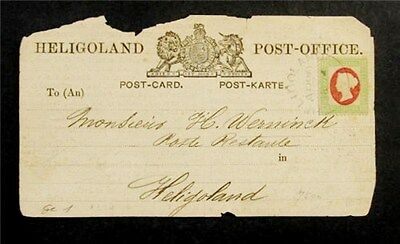 nystamps British Heligoland Stamp # 12 Used $875 On Cover