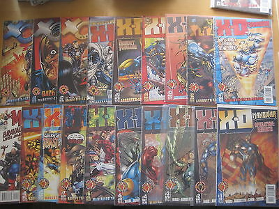 X - O MANOWAR : COMPLETE RUN #s 1 - 19 by WAID, AUGUSTYN. VALIANT / ACCLAIM.1997