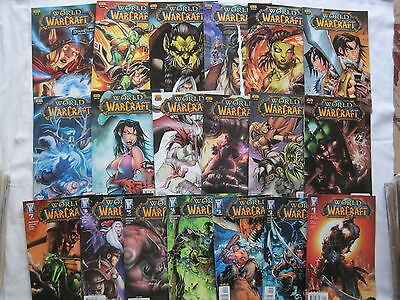 WORLD of WARCRAFT  # s 1 - 19 COMPLETE by  SIMONSON & LULLABI. WILDSTORM 2008