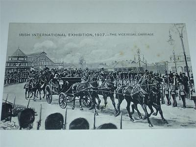 IRISH INTERNATIONAL EXHIBITION 1907, VICEREGAL CARRIAGE POSTCARD by J. Tallon!