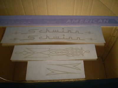 Mint Schwinn Deluxe American Bicycle White Decal Set