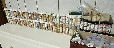 150+ vials of vintage china paint for fine china and porcelain