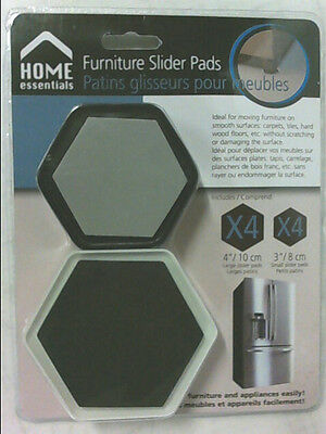 NEW Home Essentials 8 Pieces Furniture Slider Pads