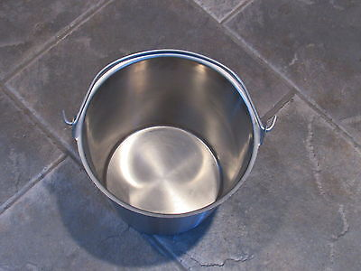 Vollrath  # 58160 Stainless Steel Tapered Dairy Pail 12 inch diameter NSF USA