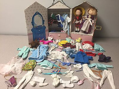 Madeline Eden Doll w/ Outfits, Friend Nicole & Carrying Case Pajamas Dresses Lot