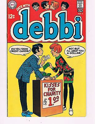 Date With Debbi #2  (1969 Dc) Classic Kissing Booth Cover (Archie Like)