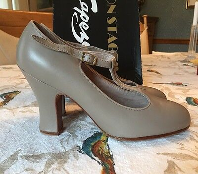 "Capezio Tan Professional Character Shoes 3"" Heel 10M"