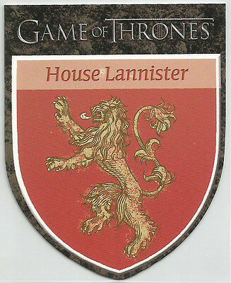 """Game of Thrones Season 1 ~ """"THE HOUSES"""" Insert Card H3 House Lannister"""