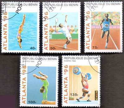 BENIN (18/1) 1996 Olympic Games Sports 5 Diff. Stamps ! Gift Your Children !
