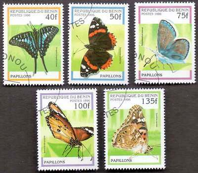 BENIN (13/1) 1996 Beautiful Butterfly/Moths 5 Diff. Stamps ! Gift Your Children