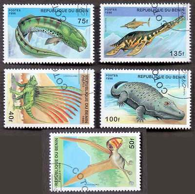 BENIN (19/1) 1996 Pre-Historical Animals 5 Diff. Stamps ! Gift Your Children !